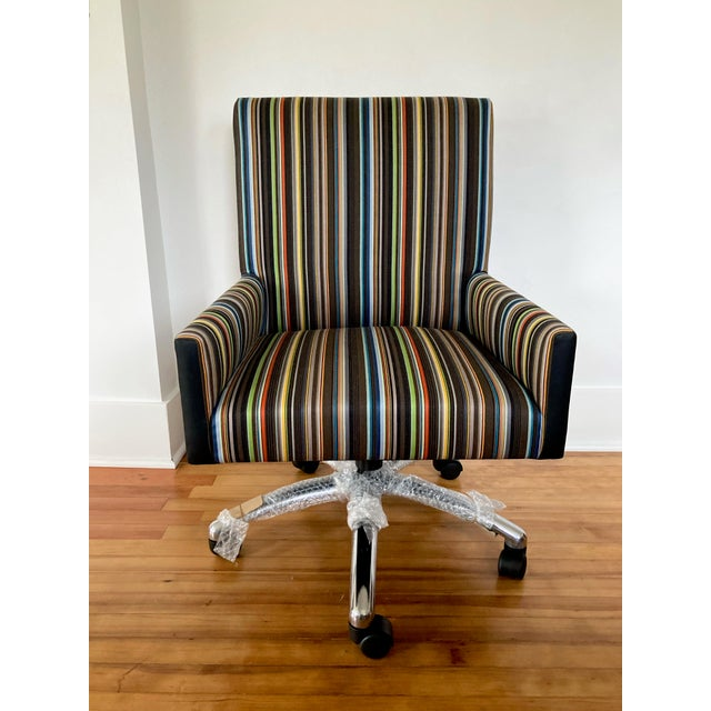 J L F Collections Rolling Desk Chair For Sale - Image 12 of 12