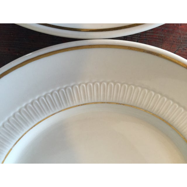 Vintage Restaurant Ware White & Gold Plates - Set of 4 - Image 7 of 9