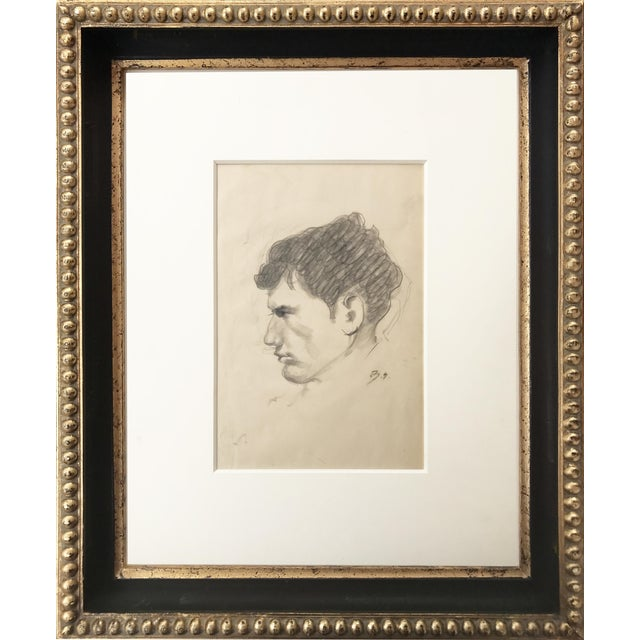 Portrait Drawing of a Man by Balthus Paris, Circa 1950 - Image 1 of 5