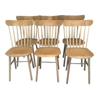 Restoration Hardware Dining Wooden Chairs - Set of 6 For Sale