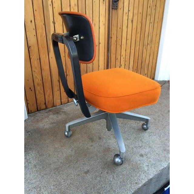Vintage SteelCase Orange Office Chair - Image 3 of 8