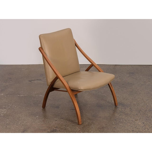 Swedish Armless Sculpted Lounge Chair For Sale - Image 10 of 10