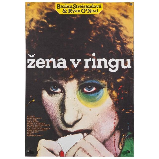 "Czech ""The Main Event"" Poster Barbra Streisand For Sale"