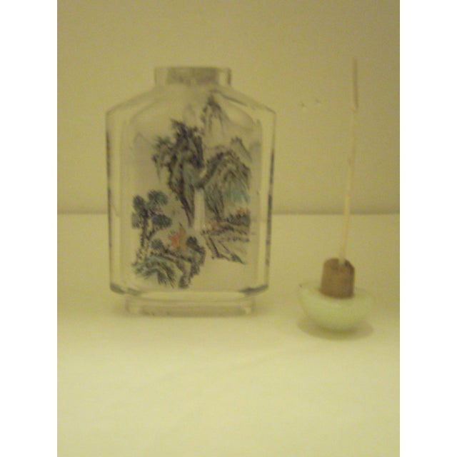 Peking Back Painted Glass Bottles - Set of 4 - Image 5 of 11