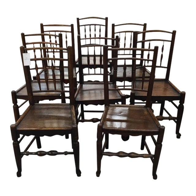 Oak Side Chairs- Set of Eight For Sale