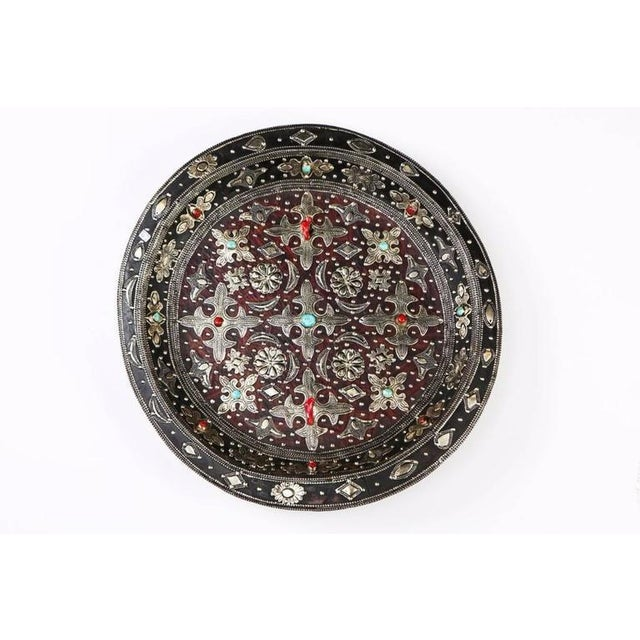 Decorative Ancient Leather Wall Plate or Charger - Image 2 of 3