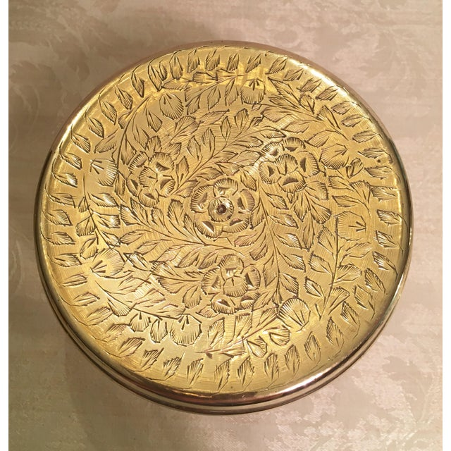 Brass Moroccan Brass Warming Stool For Sale - Image 7 of 8