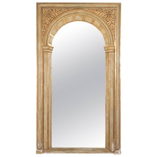 Large French Parcel Gilt Floor Mirror For Sale