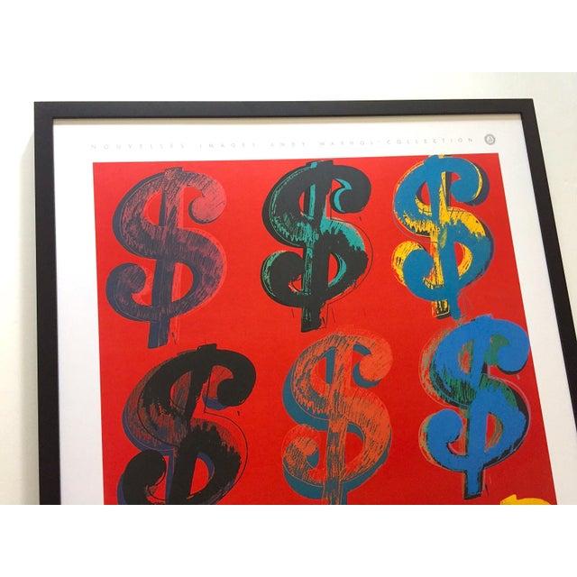 "Black Andy Warhol Estate Rare Vintage 1989 1st Edition Lithograph Print Large Framed Pop Art Poster "" Dollar Signs "" 1982 For Sale - Image 8 of 13"