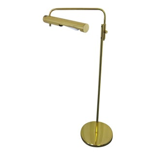Mid-Century Modern Brass Swivel Floor Lamp For Sale