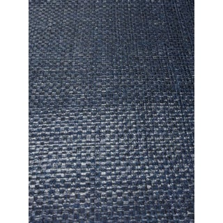 Navy Textile Patterned Wallcovering For Sale