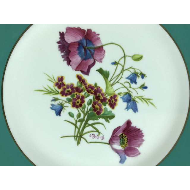 Gorgeous set of 12 Minton dinner plates measuring 10.5 inches in diameter. Each plate is hand painted and hand signed. The...