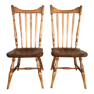 Cushman Colonial Creations Fairfield Model 5921 Side Chairs - a Pair For Sale