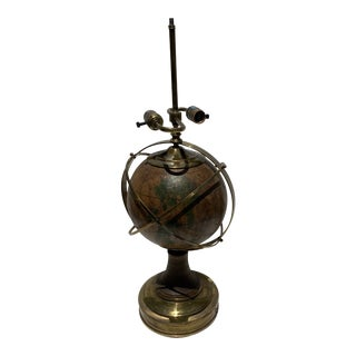 Hart Associates Brass and Globe Lamp For Sale