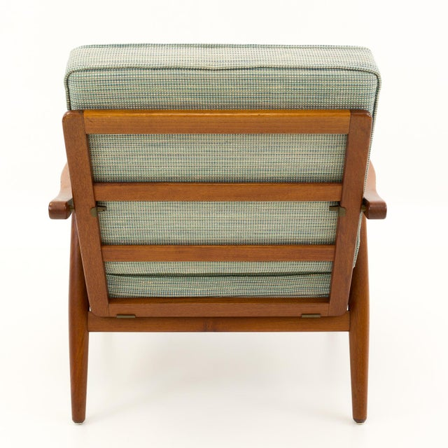 Mid 20th Century Vintage Mid Century Hans Wegner for Getama Ge-270 Danish Teak Lounge Chair For Sale - Image 5 of 12