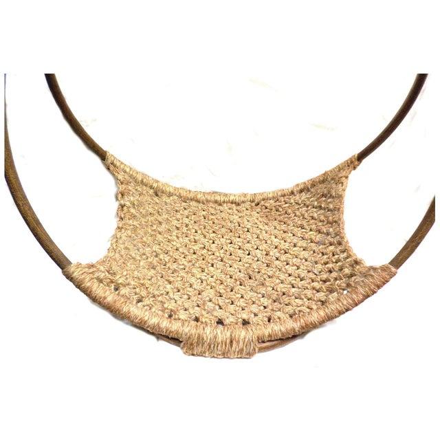 Mid-Century Modern Minimalist Wool Basket - Image 3 of 5