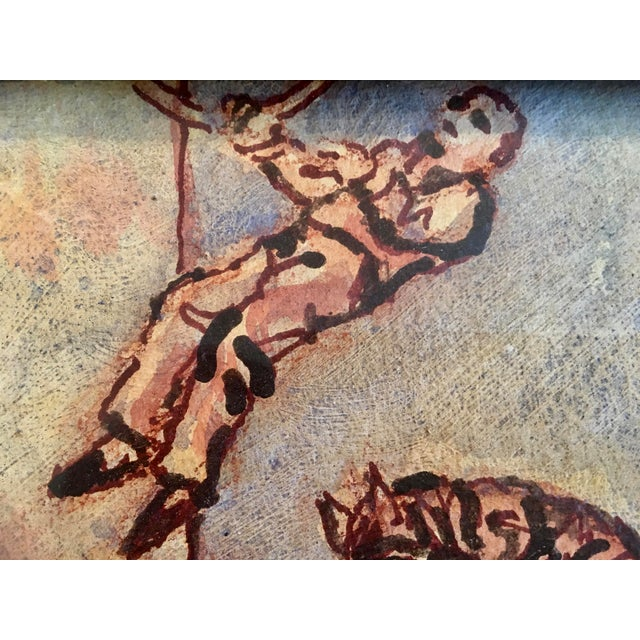 """Carnival Circus Series """"Bare Back Trick Riding"""" Painting For Sale - Image 3 of 11"""