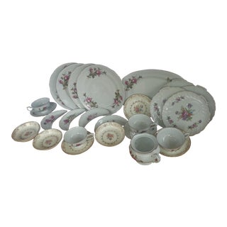 Mismatch China Serving Dishes - 26 Pieces