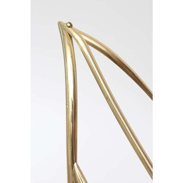 Maison Jansen Polished Brass Magazine or Book Stand or Holder - Image 7 of 10