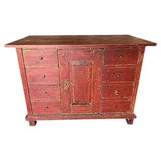 European Painted Chest For Sale