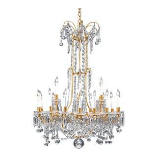 Baccarat Crystal Twenty-Four-light Chandelier For Sale