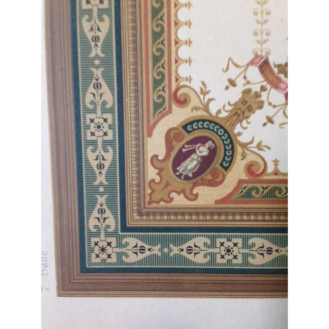 German Architectural Decorative Chromolithograph - Image 3 of 4