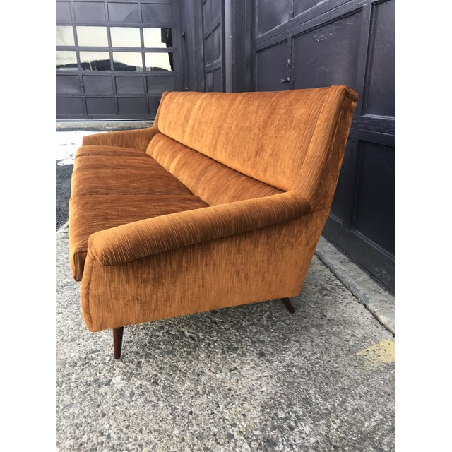 Reupholstered! Early Milo Baughman Thayer Coggin Four Seat Sofa For Sale In New York - Image 6 of 13