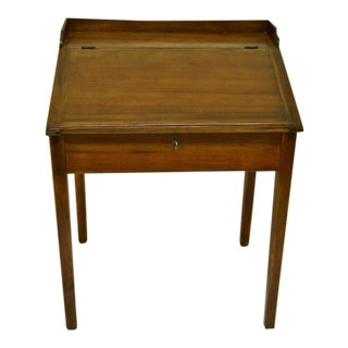 Pine and Poplar Schoolmaster's Desk For Sale