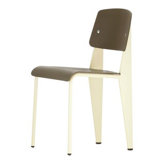 Jean Prouvé for Vitra Standard Chair SP in Olive and Ecru White For Sale