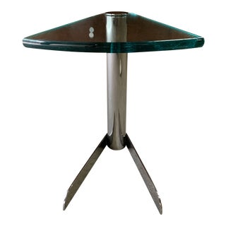 Pace Chrome Wedge Table For Sale