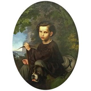 19th Century Oil on Canvas Portrait For Sale