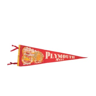 Red Plymouth Massachusetts Felt Flag For Sale