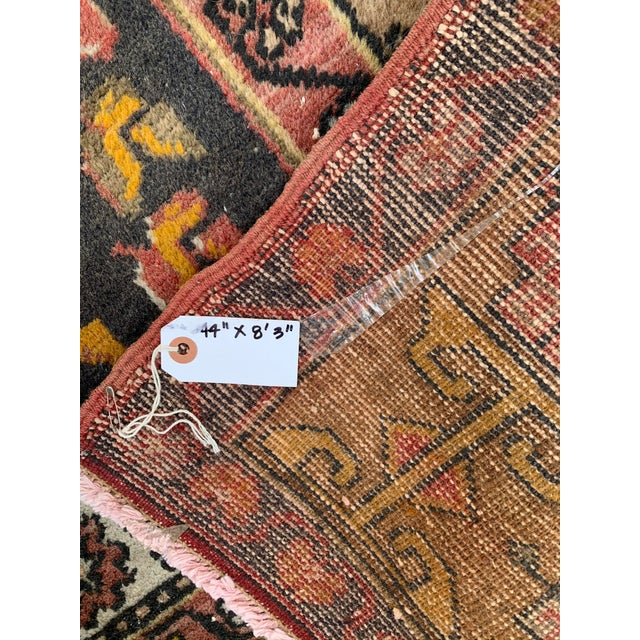 Mid 20th Century Vintage Persian Area Rug- 3′8″ × 8′3″ For Sale - Image 5 of 7