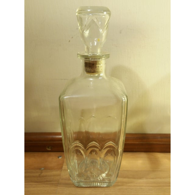 Vintage Glass Whiskey Decanters - Set of 3 For Sale In Saint Louis - Image 6 of 6