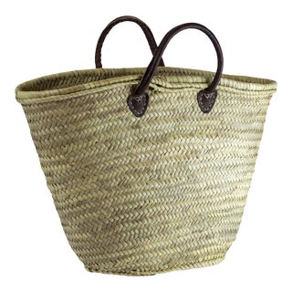 Moroccan Market Basket With Leather Straps