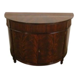Craftique Solid Mahogany Half Round Console Cabinet For Sale