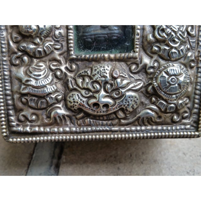 Vintage Traveling Silver Buddhist Shrine - Image 5 of 7
