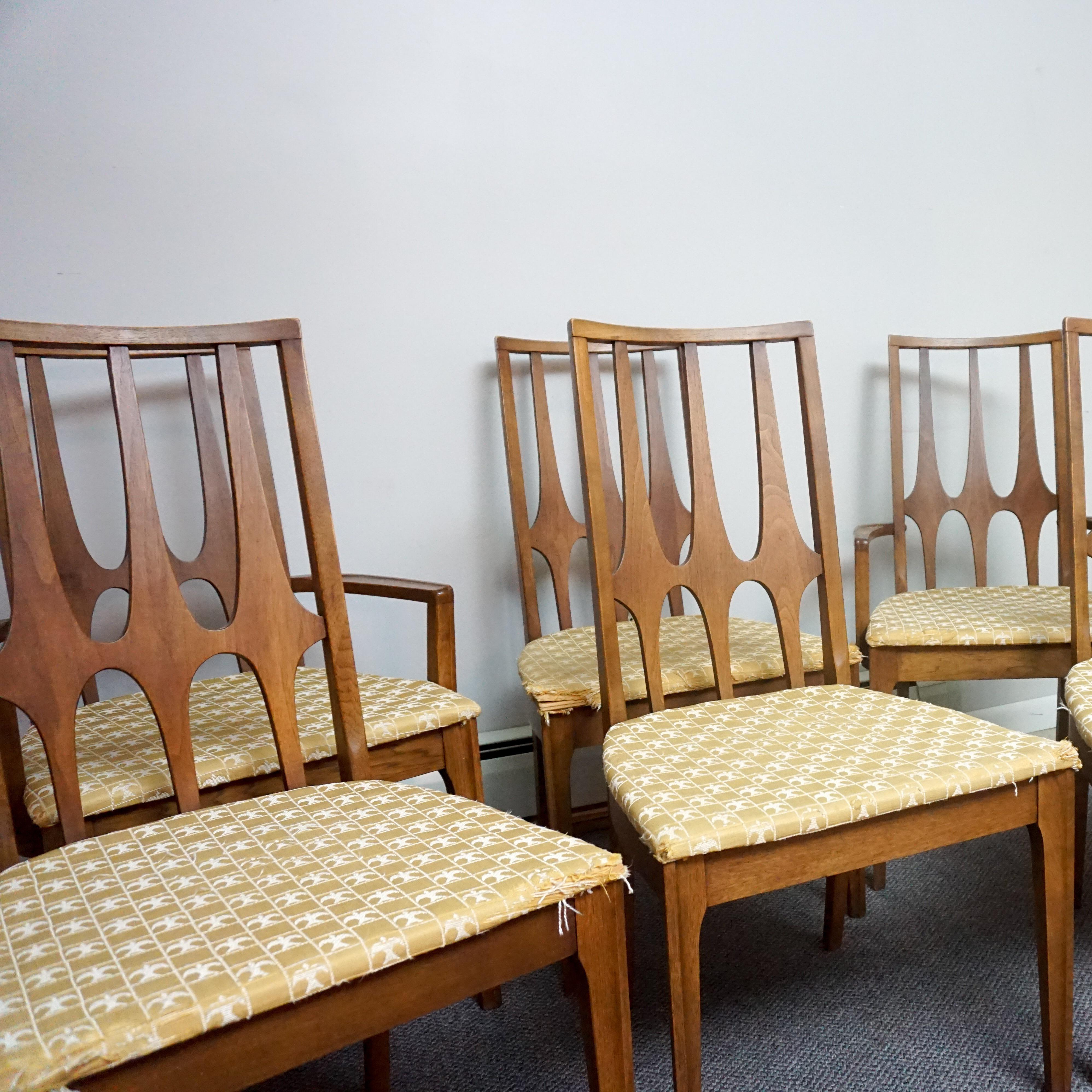 Danish Modern Broyhill Brasilia Dining Chairs   Set Of 6 For Sale   Image 3  Of