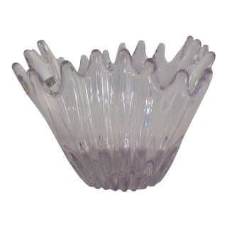 Vannes - Le Chatel Crystal Vase/Vessel For Sale