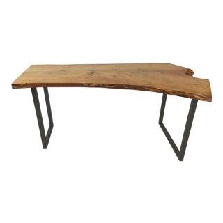 Natural Pecan Slab Desk
