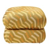 Image of Mario Buatta Stacked Turkish Pillow Ottoman For Sale