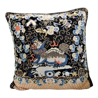 Needlepoint Handmade 100% WooThrow Pillow For Sale