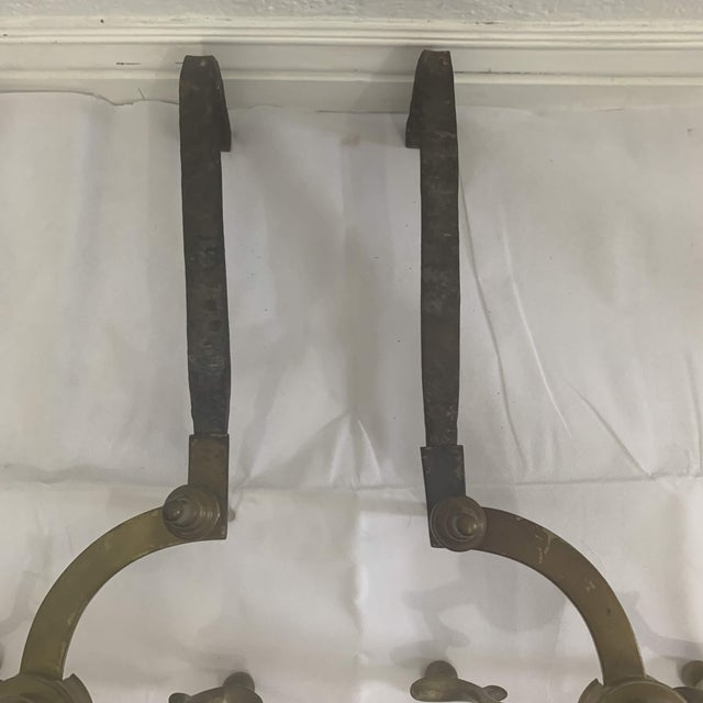 18th Century American Steeple Top Andirons - a Pair For Sale - Image 11 of 13