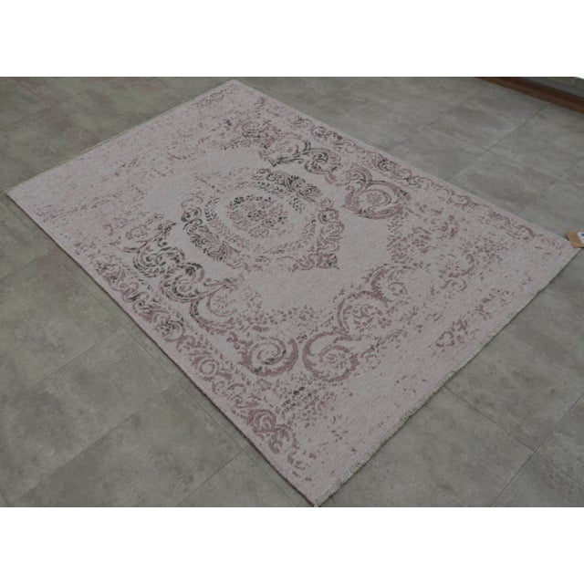 Purple Overdyed Turkish Rug - 3′11″ X 5′11″ - Image 2 of 9