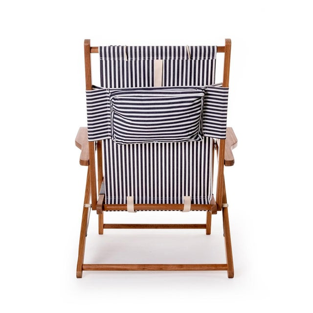 Contemporary Tommy Outdoor Chair - Lauren's Navy Stripe For Sale - Image 3 of 6