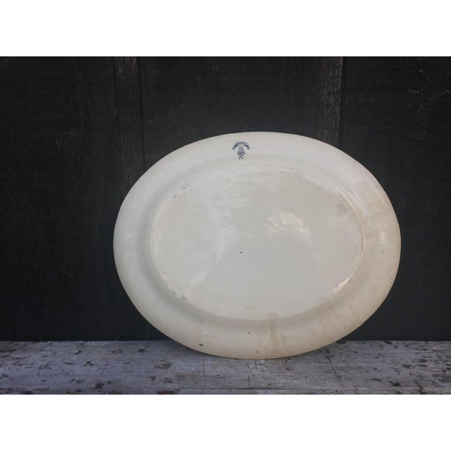 Late 19th Century 1883 Palmyra Blue Transferware Platter For Sale - Image 5 of 7