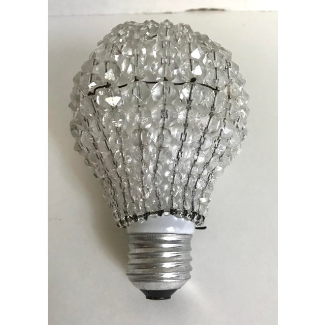 Early 20th Century Antique Bavarian Crystal Light Bulb Cover For Sale - Image 4 of 4