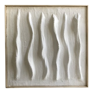 'Ridgelines' Minimalist Plaster Painting For Sale