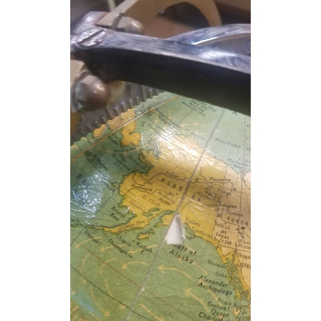 1930s Cram's 1936 Deluxe Globe With Suns Rays For Sale - Image 5 of 10
