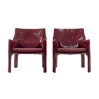 Mario Bellini Cab Lounge Chairs For Sale